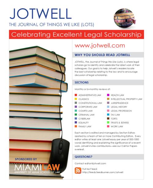 Jotwell Flyer - click for hi-res